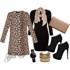 """""""Leopard and Black Chic"""" by stylisheve on Polyvore"""