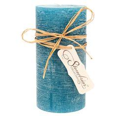 Textured wax candle in ocean.   Product: CandleConstruction Material: WaxColor: OceanDimen...