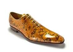 Model-614, manufactured in pumpkin peys patent leather