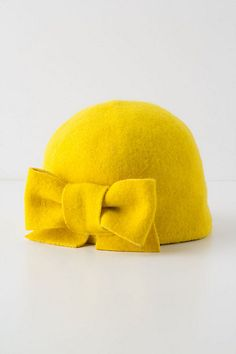 Big bow on a hat! cute! Anthropologie $68 {Or an existing beanie and a piece of 25 cent Felt from the craft store? I'm gonna go with the cheap version}