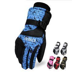Women Men Ski Gloves Winter Outdoor Sport Cycling Hiking Skiing Gloves Thicken Warm Waterproof Windproof Snow Rain Ski Gloves