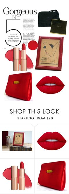 """""""The flushed lips"""" by legrenierdalphonse ❤ liked on Polyvore featuring beauty, Lime Crime and Christian Dior"""