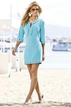 Boston Proper - paige butcher... blue dress