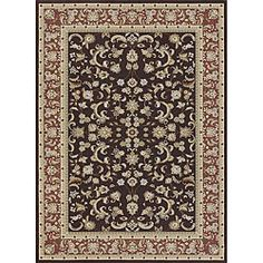 $494 and free shipping on Overstock        Primeval Coffee/ Paprika Oriental Rug (9'2 x 12'7)