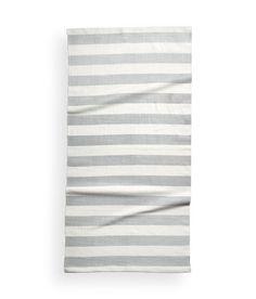 Striped Cotton Rug | Light gray | Home | H&M US