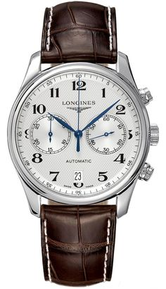 Discover a large selection of Longines Master Collection watches on - the worldwide marketplace for luxury watches. Compare all Longines Master Collection watches ✓ Buy safely & securely ✓ Timex Watches, Seiko Watches, Patek Philippe, Cool Watches, Watches For Men, Datejust Rolex, Watch Master, Brown Leather Strap Watch, Skeleton Watches