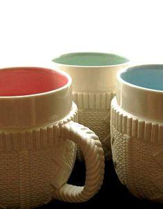 porcelain mugs modern tableware in white