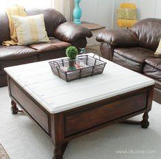 DIY two-tone coffee table tutorial!