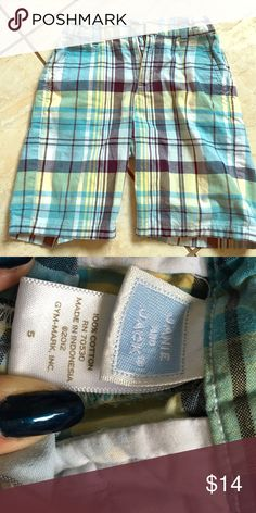 Boys Janie and Jack plaid shorts Size 5 Janie and Jack boys plaid / Madras shorts. Excellent condition. Janie and Jack Bottoms Shorts