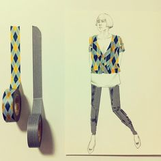 washi tape clothes