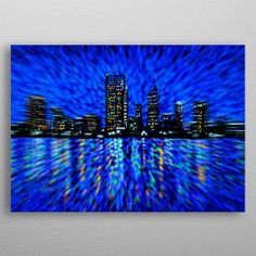 Perth City Poster made out of metal. High-quality metal wall art meticulously designed by alanhogan would bring extraordinary style to your room. Hang it & enjoy. Artwork Prints, Cool Artwork, Poster Prints, Perth Australia, Western Australia, Poster Making, Print Artist, City Lights, Metal Wall Art