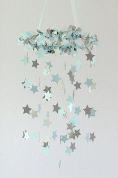 Boy Nursery Decor  Nursery Mobile Stars in by LoveBugLullabies, $63.00