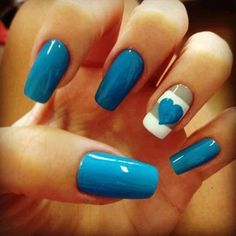 blue nails....like like this