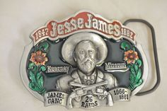 Jesse James Gang Pure Pewter Great American Products Vintage Belt Buckle #GreatAmericanBuckleCompany