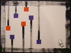 """Dependurados"" acrílica sobre papel 0,32 x 0,24 2008 M. Sigrini Miranda"