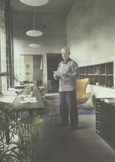 peter zumthor in his atelier in haldenstein (switzerland)