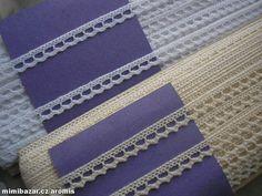 paličkovaná krajka 100% bavlna   1 metr od každé krajky.