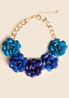 Tahoe Sky Floral Necklace | ShopRuche $26.99