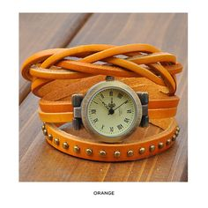 Vintage-Style Women's Fashion Watch with Genuine Leather Strap - Assorted Colors at 83% Savings off Retail!