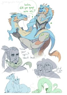 I really like genji's dragon he does act like an adorable cat. Hanzo and his dragons....are more like grumpy cat.