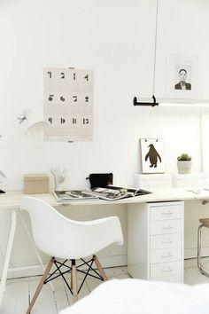 Оформляем рабочее место в скандинавском стиле: 35 идей для вдохновения