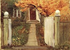 """Entrance into our garden, """"Michael and Anna Ancher-House"""", 1903, Anna Ancher. Danish (1859-1935)"""