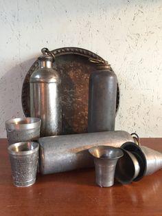 Oude metalen kruiken, old hot water bottle Binoculars, Water, Hot, Accessories, Gripe Water, Aqua