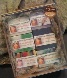 6 bar Gift box of all natural soap from the YesterYear Soap Company