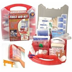 50 Person OSHA First Aid Kit Meets ANSI W Plastic Case Health Care Professionals