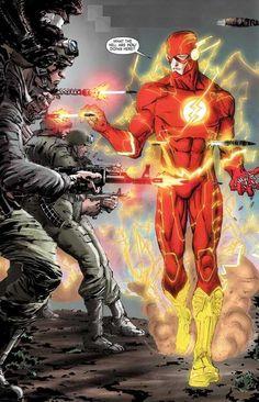 Flash Comic - The Flash! Marvel Dc Comics, Flash Comics, Dc Comics Art, Marvel Vs, Captain Marvel, Comic Book Characters, Comic Book Heroes, Comic Character, Comic Books Art