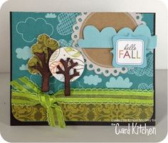 Hello Fall Card by Kimber McGray for the Card Kitchen Kit Club; October 2013 Card Kitchen Kit
