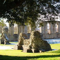 Glastonbury Abbey - Somerset, England  Legendary burial place of King Arthus and his Queen Guinevere