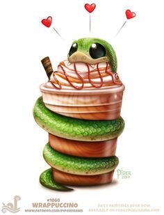 Daily Paint 1868# Wrappuccino by Cryptid-Creations