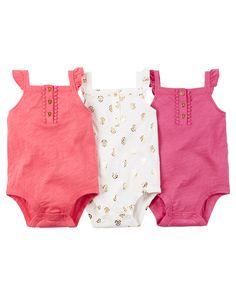 Emballage multiple 3 cache-couches pour bébés filles | Carter's OshKosh Canada
