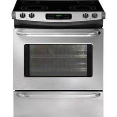 Frigidaire CFES3035LS 30-Inch Smooth Surface 4-Element 4.2-cu ft Slide-in Convection Electric Range (Stainless Steel)
