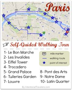 ღღ A Free Self-Guided Walking Tour Map for Paris, France | Free tools and resources for trip planning & Free or cheap things to see and do in Paris | Intentional Travelers