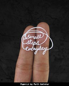 """Small Steps Every Day"" Miniature Papercut Typography IV by ParthKothekar on Etsy"
