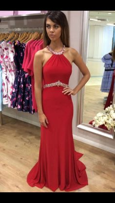 2017 Sexy Prom Dress,Red Backless Prom Dresses,Long Homecoming