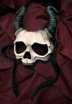 One-of-a-kind resin Krampus mask | Dangerous Minds