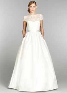 This is it. I found my wedding dress. Tara Keely Ball Gown Wedding Dress with Pockets