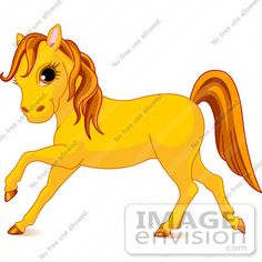 orange cartoon animals | Cute Horse Clipart