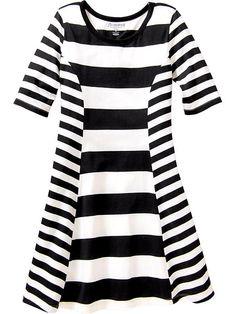 Girls Mixed Stripe Dresses Product Image