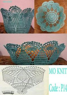 How to Crochet a Solid Granny Square Crochet Bowl, Crochet Basket Pattern, Crochet Art, Thread Crochet, Crochet Gifts, Crochet Motif, Crochet Designs, Crochet Doilies, Crochet Stitches Patterns