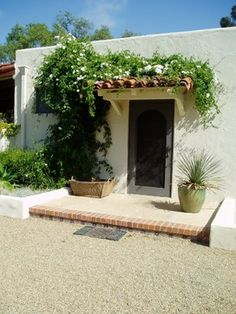 Lilian Rice, Estate landscape, Rancho Santa Fe, courtyard, pavers - mediterranean - entry - san diego - The Design Build Company