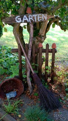 Gartenschild aus Treibholz