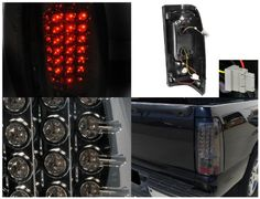 Spec-D Tuning LT-SIV99GLED-TM Chevy Silverado Gmc Sierra Fleetside Smoked Led Tail Lights