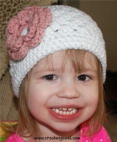 Crochet Interchangeable Flower Hat (All Sizes) Pattern, http://crochetjewel.com/?p=13479