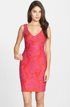 Nicole Miller Embroidered Neoprene Sheath Dress available at  Nordstrom  Nicole Miller a683a04f7