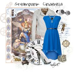 """""""Steampunk Cinderella Inspired Outfit"""" by rubytyra Princess Inspired Outfits, Disney Princess Fashion, Disney Inspired Fashion, Princess Style, Disney Style, Disney Fashion, Steampunk Costume, Steampunk Fashion, Steampunk Kids"""