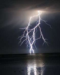 Buy 'Lightning over water' by robynbrody as a Greeting Card. Lightning over Spencer Gulf, Yorke Peninsular, South Australia Lightning Photography, Storm Photography, Landscape Photography, Nature Photography, Photography Tips, Thunder And Lightning Storm, Red Lightning, Lightning Strikes, Lighting Storm